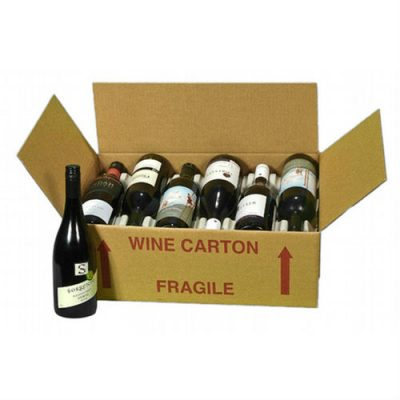 wine carton for 12 bottles