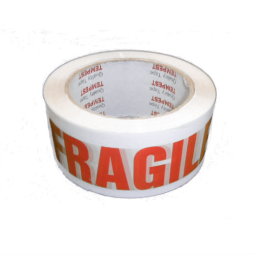 Fragile Tape White & Red