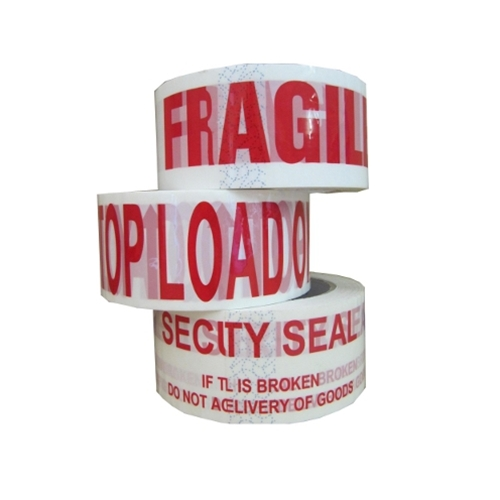 Other warning tape available, Top Load only, Security Seal