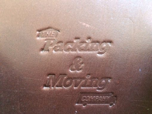 The Packing & Moving Company Embosed Logo